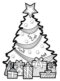 coloring page of christmas tree with presents coloring pages christmas tree blank tree coloring page coloring