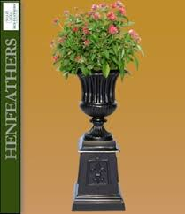 Urn Planters With Pedestal Grande Urns And Planters Henfeathers Com