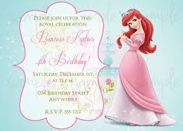 Invitation Birthday Party Card Princess Birthday Invitations Birthday Party Invitations