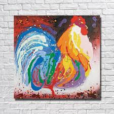 chicken home decor online shop canvas chicken oil painting home decor living room