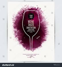 design template list wine tasting invitation stock vector