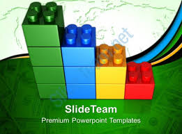 blocks building powerpoint templates lego bar graph business ppt