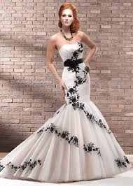 unique black and white mermaid wedding dresses weddingsrusdeco