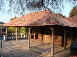 Patio Roof Ideas South Africa by African Thatched Gazebo African Style Garden Buildings The