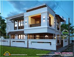bangladeshi house design plan simple flat roof house in kerala home design and floor plans
