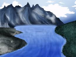 Mountain Landscape Paintings by Mountain Landscape Painting By Black Tiger Of Evil On Deviantart