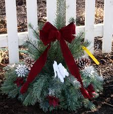 Christmas Grave Decorations Grave Blankets U0026 Grave Pillows