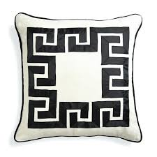 Living Room Masculine Black And White Throw Pillow Small Black