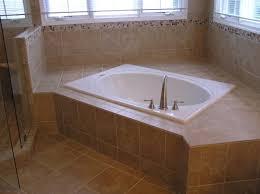 bathroom temp tub lights brown bathrooms