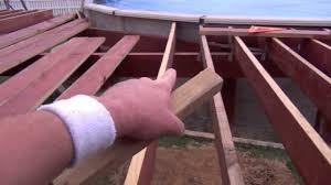 pool deck building setting joists youtube