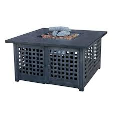 Slate Firepit Uniflame 20 In Slate Tile Propane Gas Pit Gad920sp The