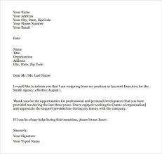 new formal letter of resignation how to format a cover letter