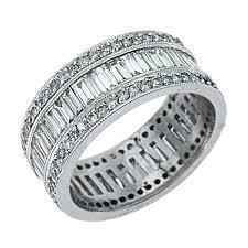 fine diamond rings images Womens diamond eternity band wedding ring baguette cut 3 carats jpg