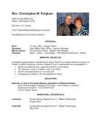 ministry resume sample eliolera com