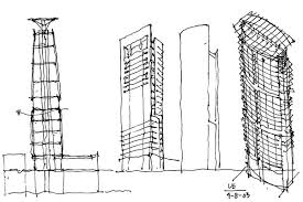 architectural sketches mixed media in spotlight in i space