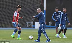black friday argentina 2017 lionel messi and argentina train under jorge sampaoli daily mail
