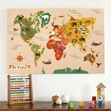 Children S Map Of The World by Kids Rooms World Map For Kids Room Decor Ideas World Map Bedroom