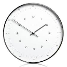 wall clock modern max bill modern office wall clock with numbers max bill clocks