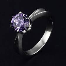 titanium engagement rings women s black titanium diamond rings wedding promise diamond