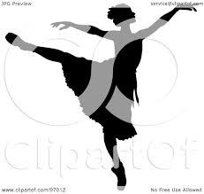 royalty free rf clipart illustration of a black ballerina