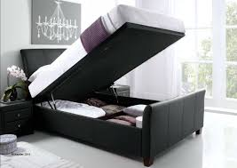 Superking Ottoman Bed 6 0 King Ottoman Bed In Black Or Brown Bonded Leather