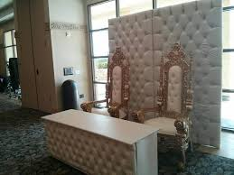wedding backdrop rentals houston white leather backdrop and matching table and chairs rental