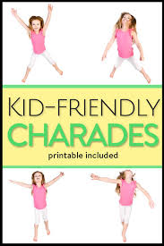 kid cards charades for kids with printable cards