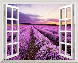 wall26 com art prints framed art canvas prints greeting high quality removable wall sticker wall mural lavender field out of the open window creative wall decor 24