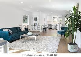 beautiful large living room interior hardwood stock photo