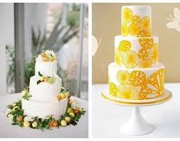 citrus inspired wedding cakes
