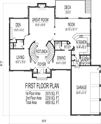Two Storey Residential Floor Plan 4500 Square Foot House Floor Plans 5 Bedroom 2 Story Double Stairs