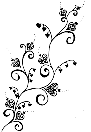 henna four leaf clover tattoo design