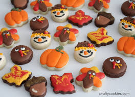 thanksgiving gobble crafty cookies gobble gobble thanksgiving mini cookies