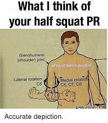Squat Meme - what i think of your half squat pr glenohumeral shoulder joint