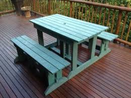 picnic table with separate benches enviro timbers gallery enviro timbers