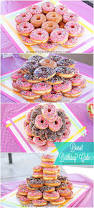 how to make a donut cake for a donut themed birthday party the