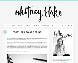 Best Designed Blog by Blog Design And Layout Inspiration Whitney Blake Blog Www