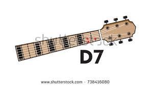 vector set guitar chord chord diagram stock vector 738409714