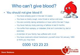 donor relations the national blood service donor relations who