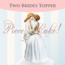 woman cake topper second marketplace two brides cake topper