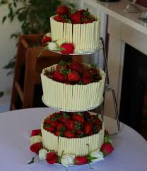 chocolate wedding cakes strawberry and white chocolate wedding cake with an elderflower