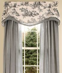 Draperies For Living Room In Red For The Living Room Country Curtains Lenoxdale Toile