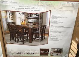 furniture broadmoore 9pc counter height dining set costco furniture broadmoore 9pc counter height dining set costco weekender