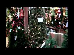 artificial trees and lights at s garden center