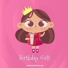 girl birthday birthday girl vector free