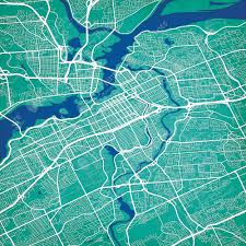 Ottawa Canada Map Ottawa Canada Map Art City Prints