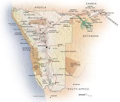 africa map kalahari map of namibia interactive physical namibia map copyright
