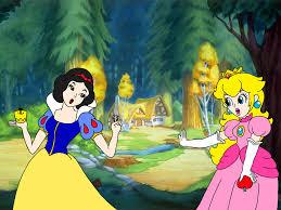 princess peach meets snow white rafaelmartins deviantart