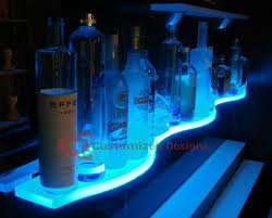 led lighted bar shelves floating shelves with lights stylish shelving units help improve