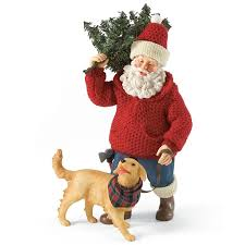 possible dreams santa santa with dog possible dreams figurine 4026707 flossie s